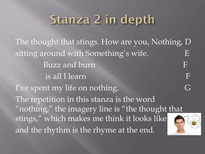Stanza 2 in depth
