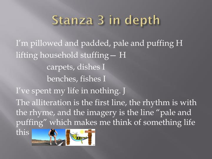 Stanza 3 in depth