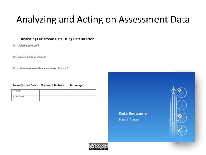 Analyzing and Acting on Assessment Data