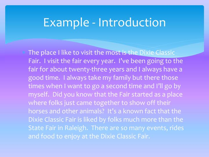 Example - Introduction