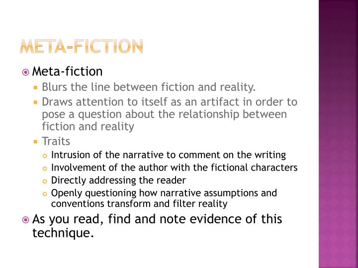 Meta-fiction