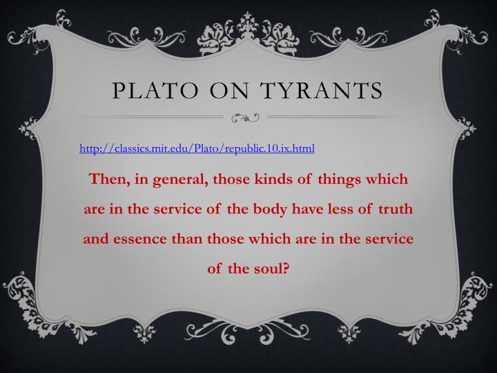 Plato on Tyrants