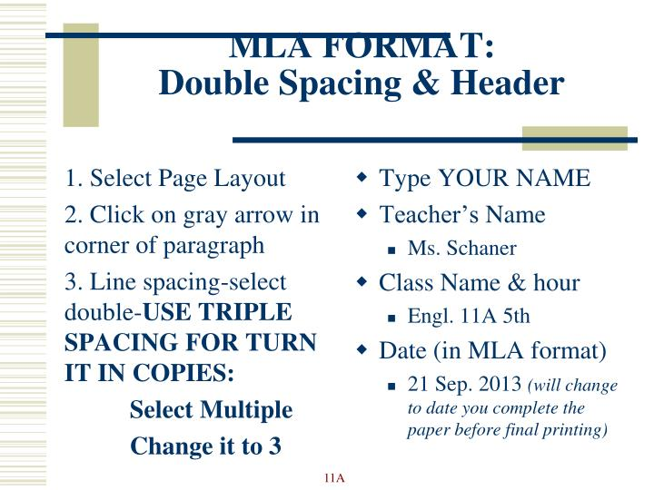 ppt mla format review powerpoint presentation id 2426650