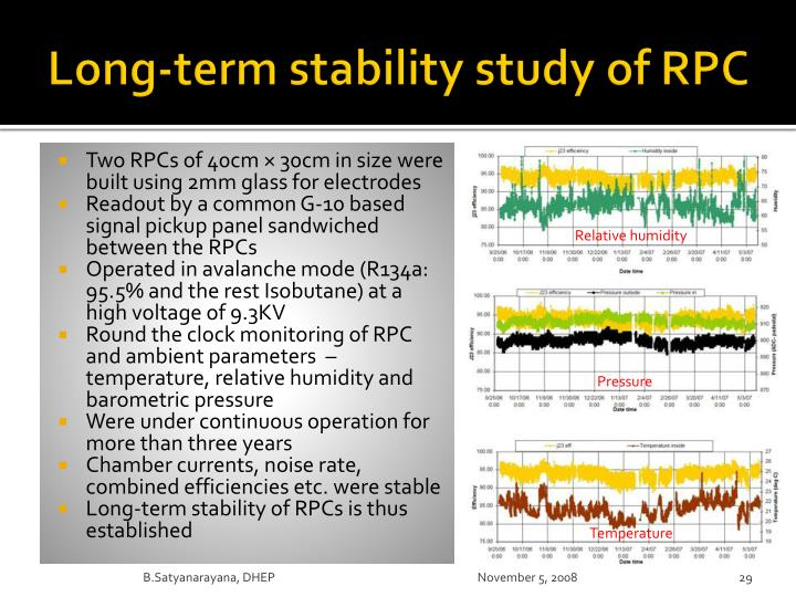 Long-term stability study of RPC