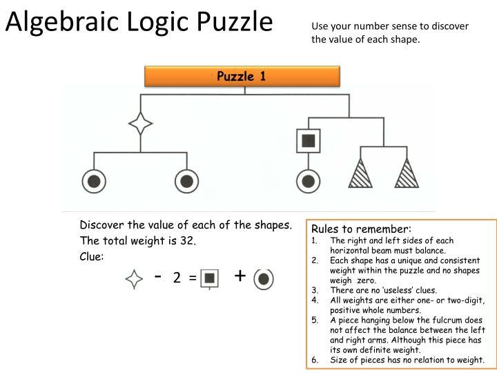 Algebraic logic puzzle