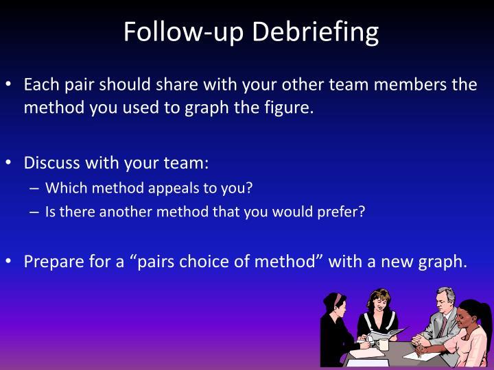 Follow-up Debriefing