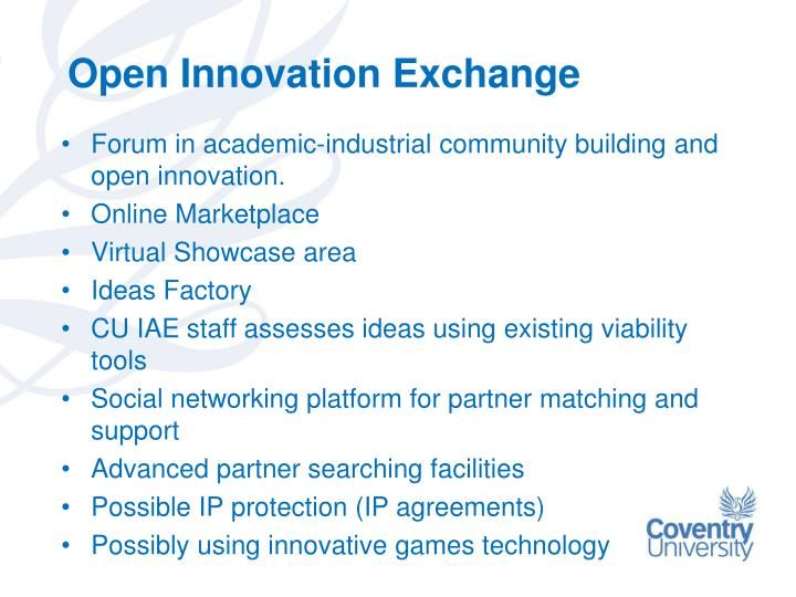Open innovation exchange
