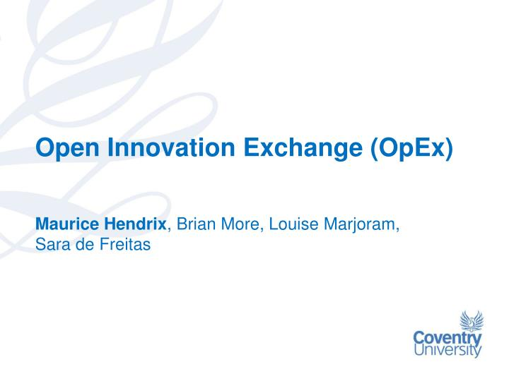 Open innovation exchange opex