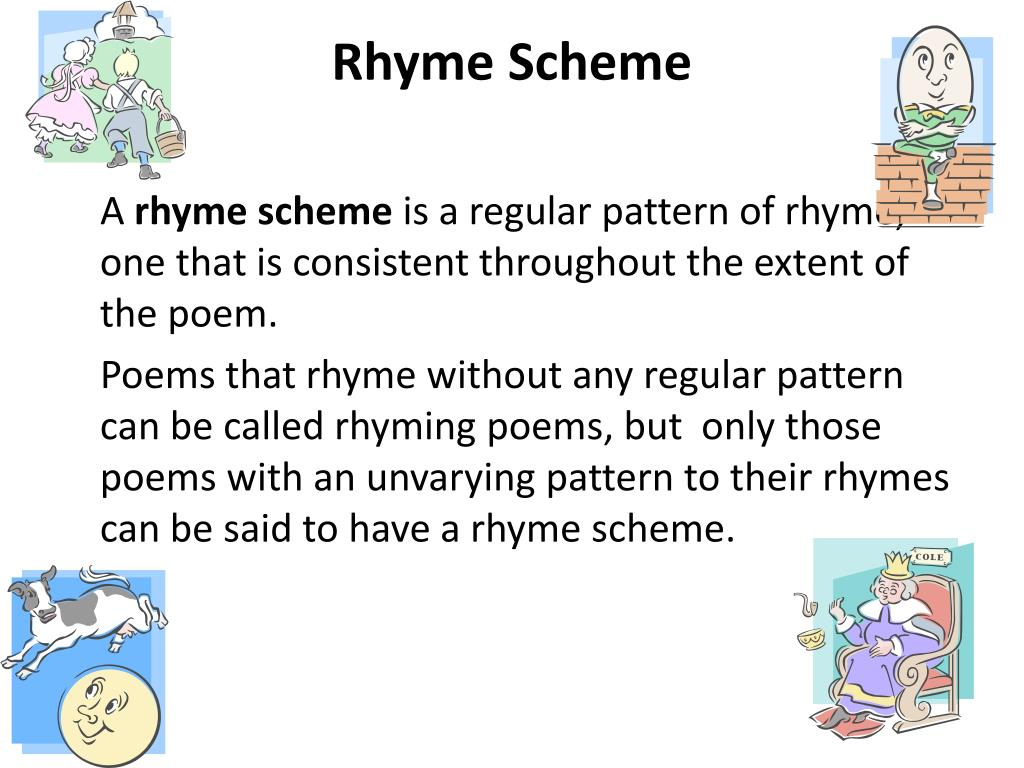 Rhyming Patterns In Poems Magnificent Decorating Design