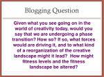 blogging question