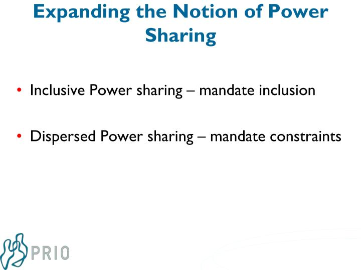 Expanding the Notion of Power Sharing