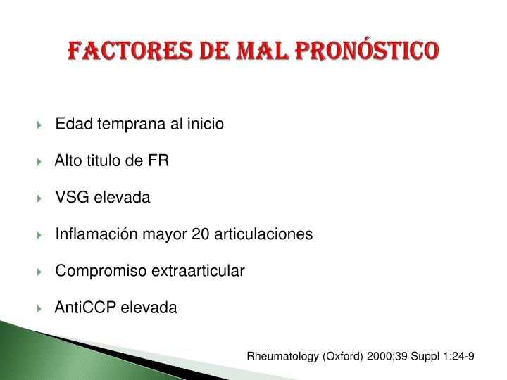 Factores de mal pronóstico