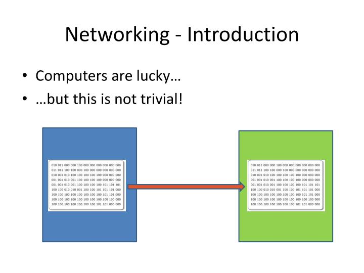 Networking introduction