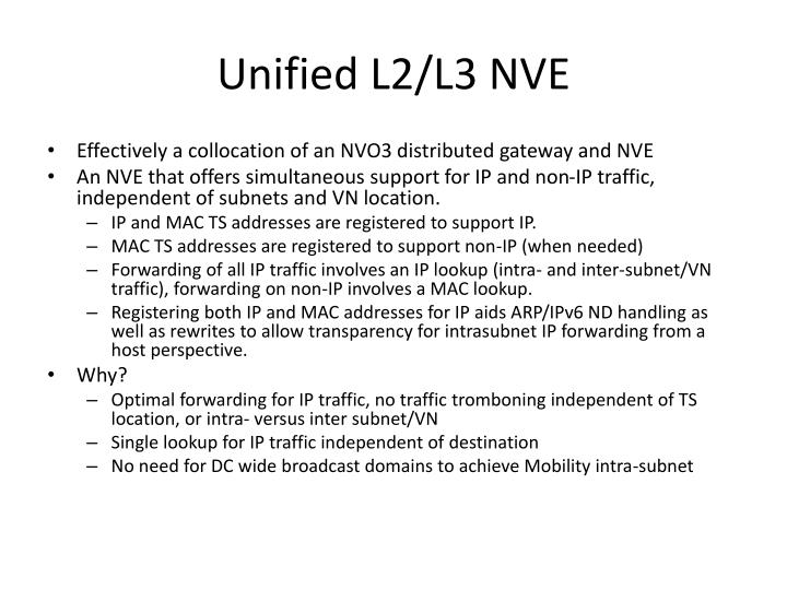 Unified l2 l3 nve