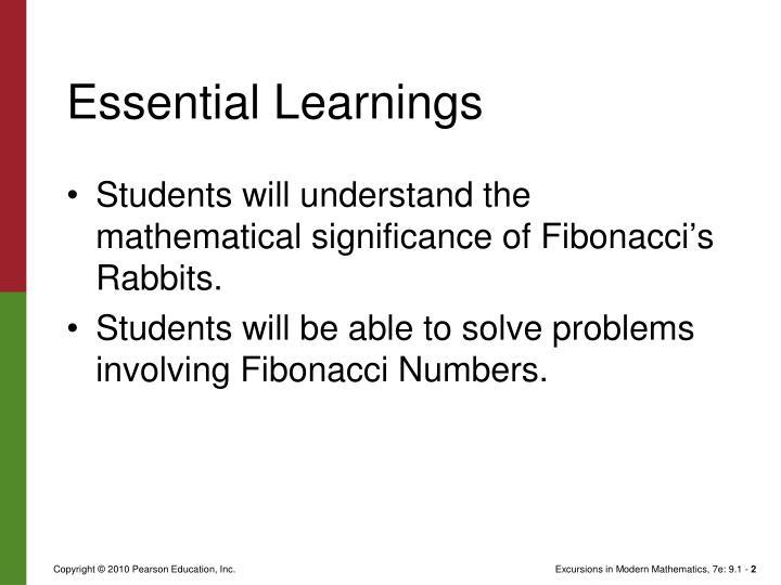 Essential learnings