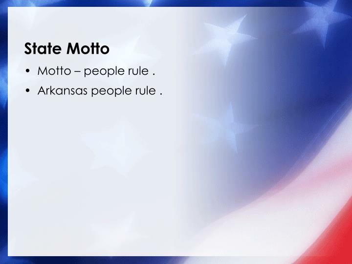 State Motto