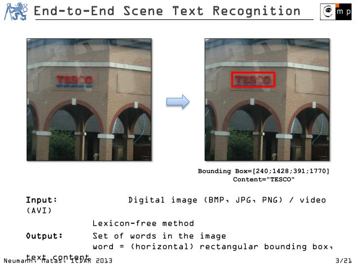End to end sc ene text recognition
