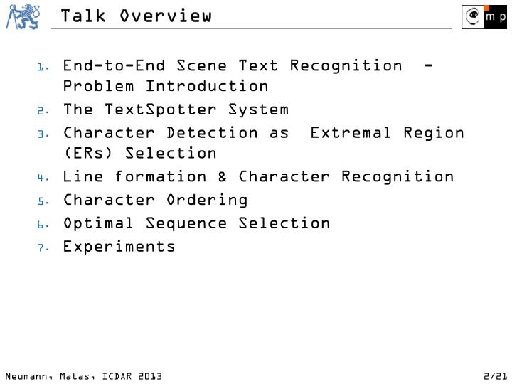 T alk overview
