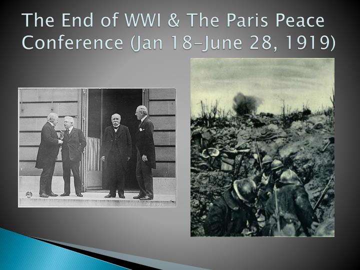 why did the 1919 paris peace