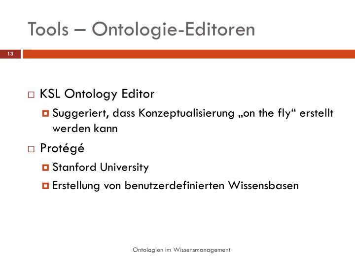 Tools – Ontologie-Editoren