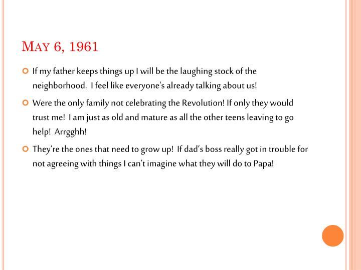May 6, 1961