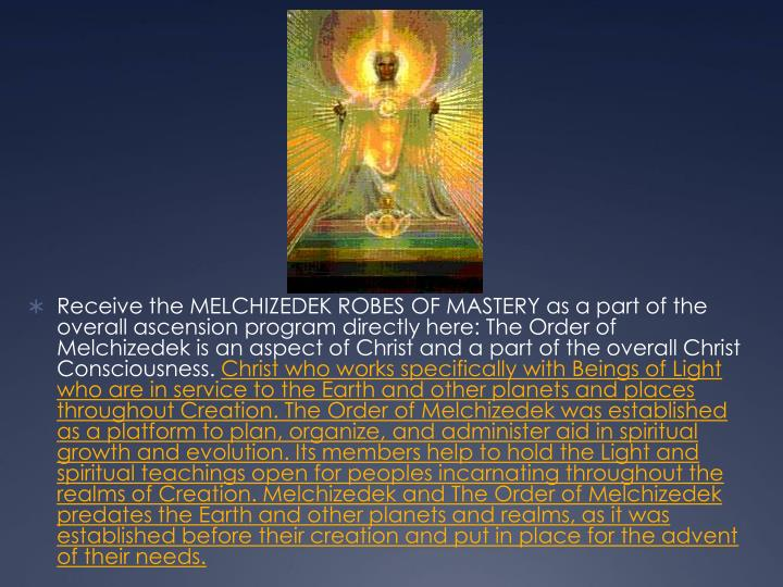 chezidek the order of melchizedek