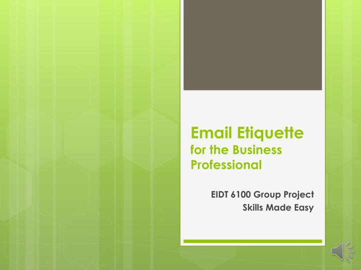 email etiquette for the business professional n.