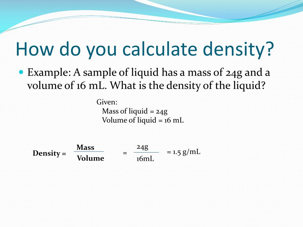 PPT - Weight, Mass, Volume and Density PowerPoint Presentation - ID