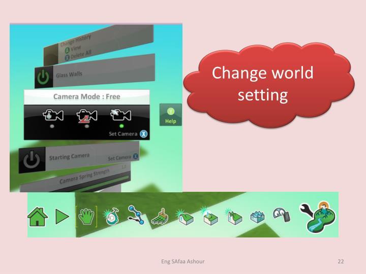 Change world setting
