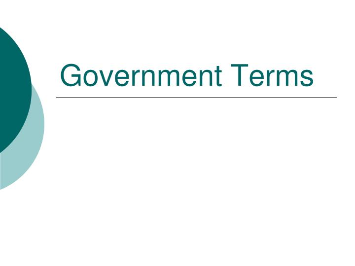 government terms