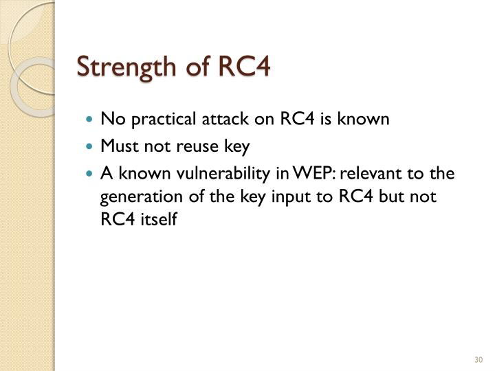 Strength of RC4