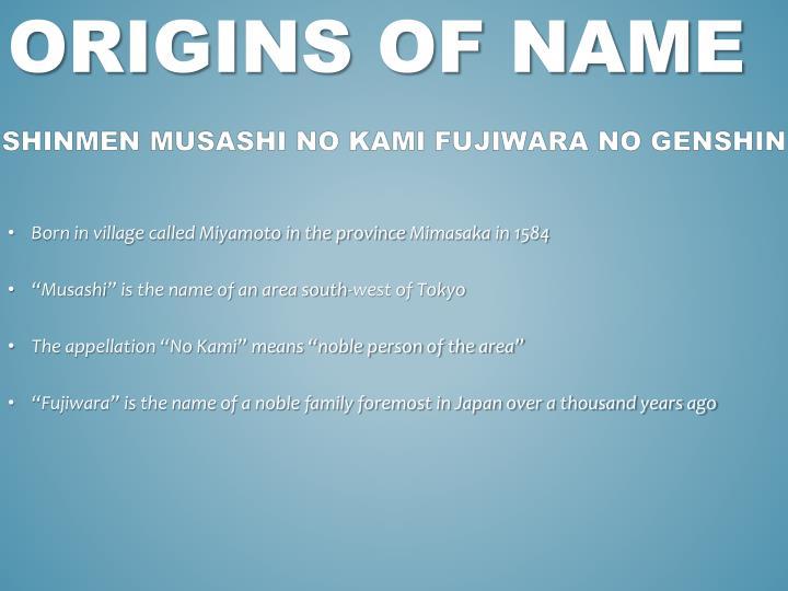 Origins of name