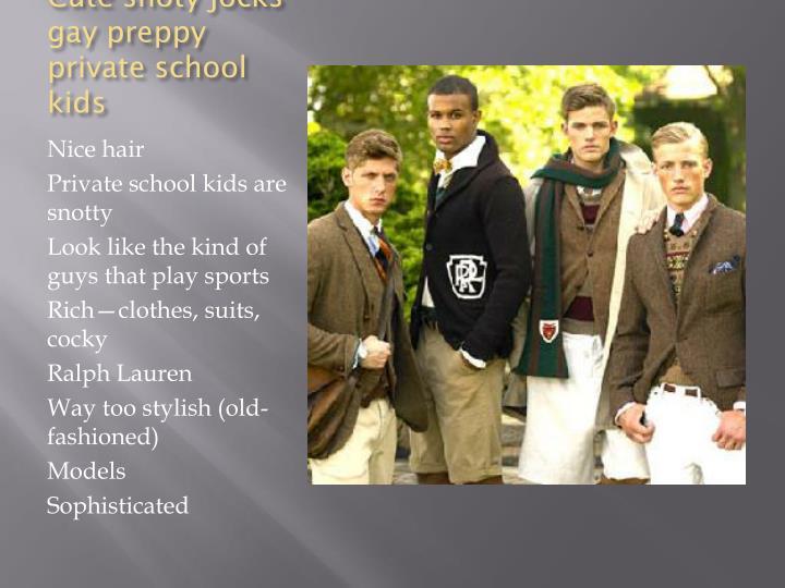 Cute snoty jocks gay preppy private school kids