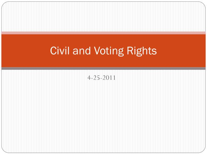 civil and voting rights n.
