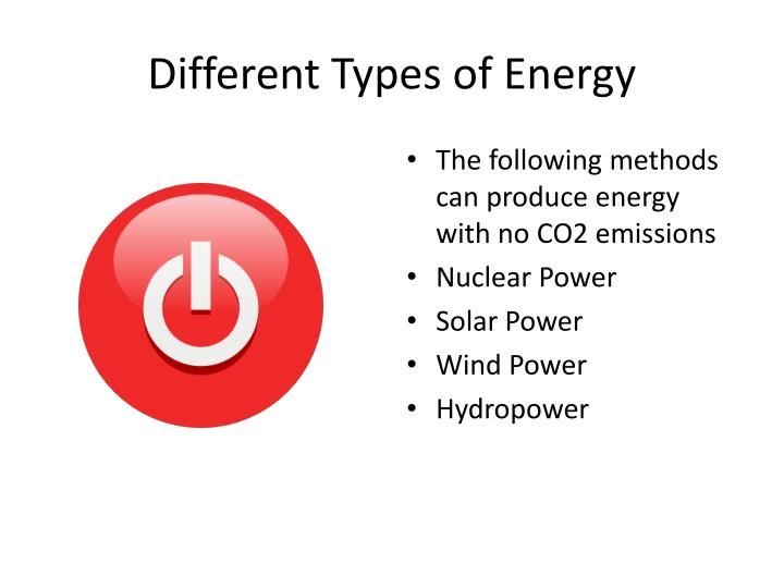 Different types of energy1