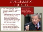 safeguarding equality