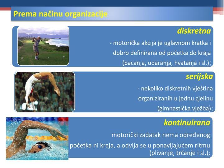 Prema načinu organizacije