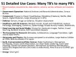51 detailed use cases many tb s to many pb s