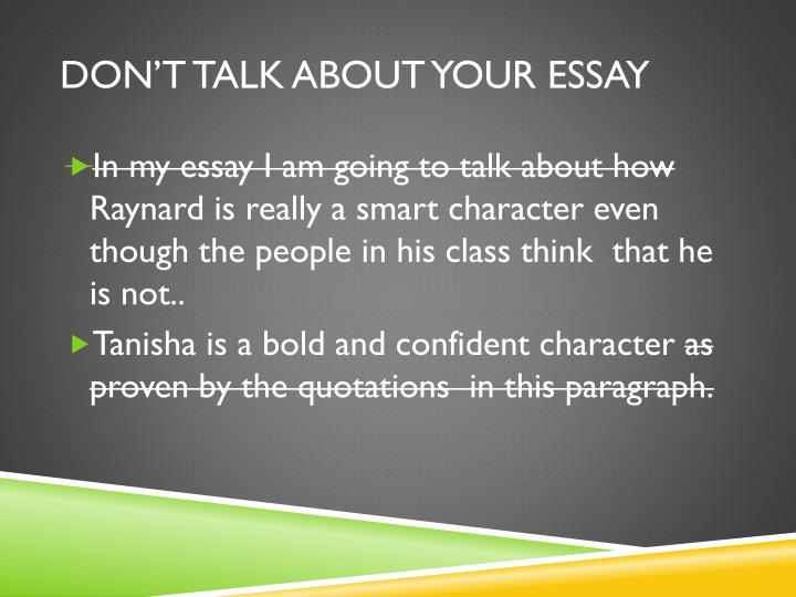 should essays be italicized Using italics (underlining) italics titles of works - titles of the following kinds of works should be italicized: how should i use titles in critical essays.