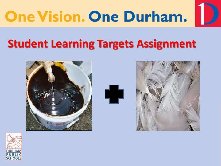 Student learning targets assignment