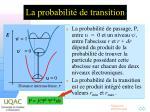 la probabilit de transition