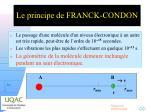le principe de franck condon