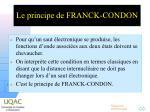 le principe de franck condon2