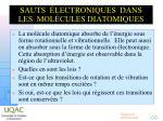 sauts lectroniques dans les mol cules diatomiques1