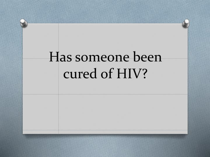 has someone been cured of hiv n.