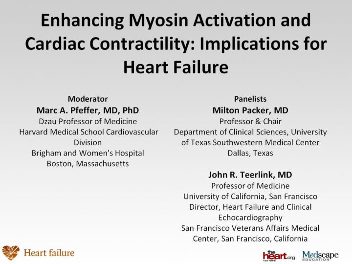 Enhancing myosin activation and cardiac contractility implications for heart failure