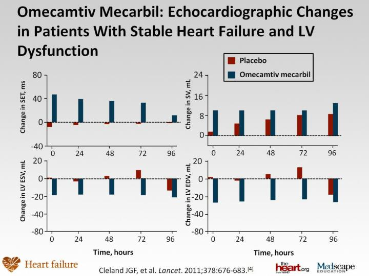 Omecamtiv Mecarbil: Echocardiographic Changes in Patients With Stable Heart Failure and LV Dysfunction