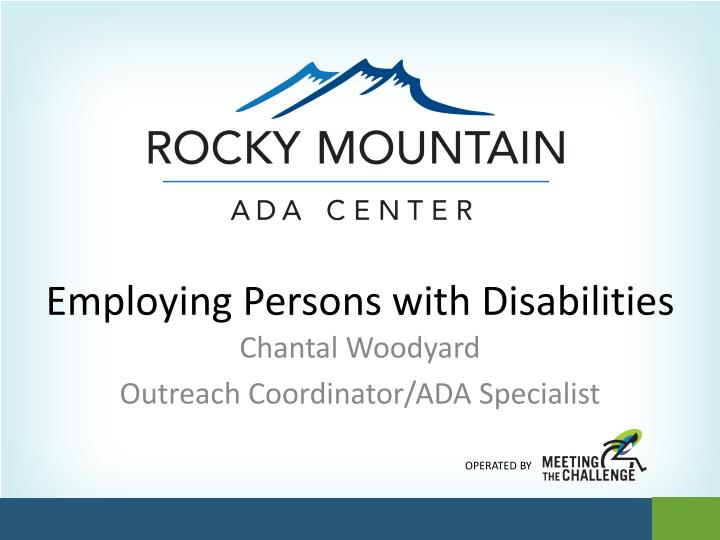 employing persons with disabilities n.