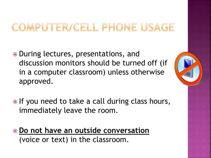 Computer/cell phone Usage