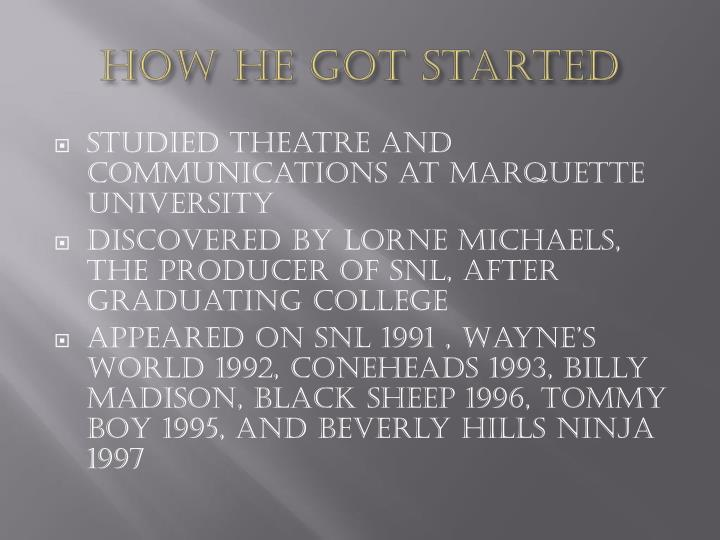 How he got started